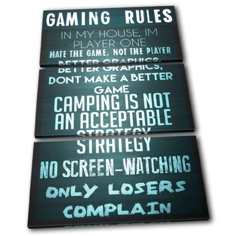 Gaming COD House Rules Typography - 13-2364(00B)-TR32-PO